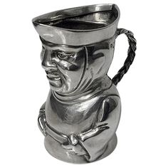 Thos. Smiley Rare English Sterling Silver Toby Cream Jug London 1882 | From a unique collection of vintage more silver, flatware and silverplate at https://www.1stdibs.com/jewelry/silver-flatware-silverplate/more-silver-flatware-silverplate/