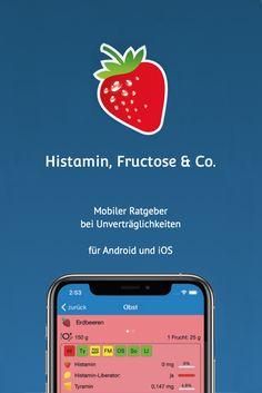 Die App Histamin, Fructose & Co. hilft Ihnen dabei, sich trotz Lebensmittelunverträglichkeiten oder -allergien ausgewogen zu ernähren. Informationen zu weit über 1000 Lebensmitteln sind übersichtlich zusammengefasst. Fodmap, Apps, Parallel Parking, Irritable Bowel Syndrome, Allergies, Types Of Cereal, Skin Rash, Feel Better, Strawberries