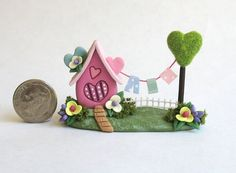 Miniature Fairy Whimsy House on LOVE with by ArtisticSpirit