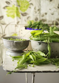 Shelling peas- One of my favorite things