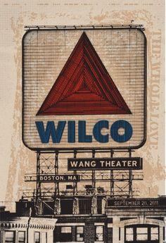 Wilco Boston Citi Sign gig poster