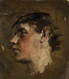 Max Klinger (German, 1857 – 1920)  Head of a boy