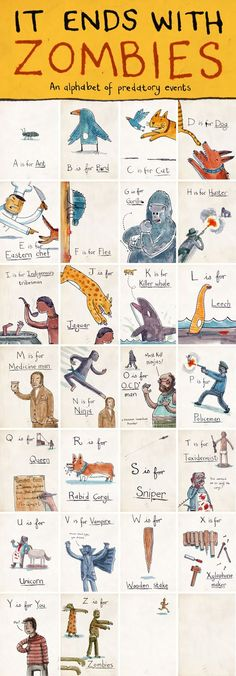 It Ends with Zombies - what a great alphabet!