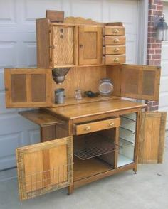 I NEED This Hoosier Style Kitchen Hutch In My Life! Hoosier Cabinet,  Cupboard,
