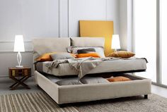 Aden High Gloss Ottoman Storage Bed – WHITE - Painted Wood - Wooden ...