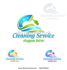 Cleaning Service vector Logo design, Eco Friendly Concept with shiny splash isolated on white Background Cleaning Company Logo, Cleaning Service Logo, Cleaning Business Cards, Cleaning Companies, Cleaning Hacks, Logo Desing, Vector Logo Design, Business Logo Design, Business Card Logo