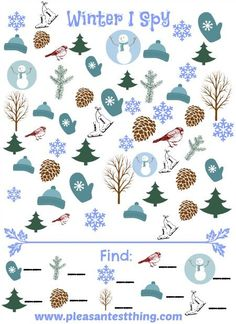 Winter I Spy Game - free printable seek and find game!