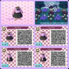 QR codes - (page - Animal Crossing New Leaf Animal Crossing 3ds, Animal Crossing Pattern, Animal Crossing Qr Codes Clothes, Motif Acnl, Leaf Animals, Ac New Leaf, Motifs Animal, Post Animal, Kawaii