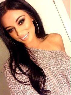 long brown hair nice makeup