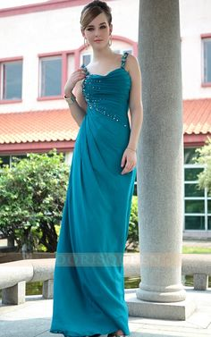 2013 blue spaghetti straps elegant long evening dresses ,long prom dresses  ,sheath evening dresses
