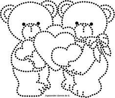 Hartjes met beertjes | Hartjes,Liefde,Valentijn | glittermotifs