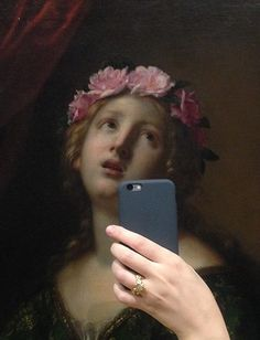 Olivia Muus knew she was onto something after taking a photo, with a friend, on a trip to the National Gallery of Denmark. It turns out, manipulating an old painting, in the form of a selfie, can give a character's facial expression an entirely new meaning. So it was then that a Tumblr account was