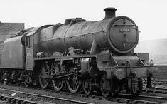 45554 Ontario, LMSR Jubilee at Edge Hill MPD, 13 March 1960 (photo by Noel A. Machell, courtesy of Mark A. Hoofe via Simon Robinson (did I mention everyone? 13 March, Steam Railway, British Rail, Train Engines, Train Car, Steam Engine, Steam Locomotive, Birmingham, Ontario