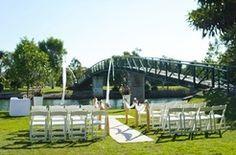 Noosa river wedding ceremony setup at Noosa Waterfront Restaurant, Noosaville.
