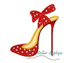 High Heel Applique - 3 Sizes! | Shoes | Machine Embroidery Designs | SWAKembroidery.com