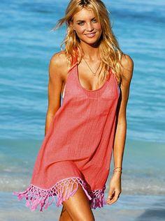 beach coverup w/ tassels