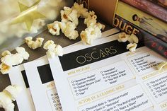 Some good ideaa for our party. Throwing the Perfect Oscar Party, Printable Ballot