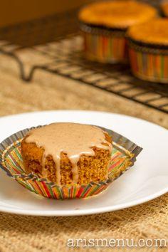 Pumpkin beer cupcakes with pumpkin beer glaze