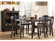 Ohana 5 Piece Counter Height Table Set by Homelegance in 2 Tone Antique Black  Warm Cherry * You can get more details by clicking on the image.Note:It is affiliate link to Amazon.