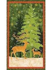 "Christmas & Winter Fabric - Peace on Earth Panel - 24"" x 42"""
