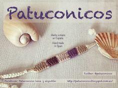 FriendShip braceleT Patuconicos hand Made in Spain. Pulsera de hilo patuconicos hecha a mano con nudos de macramé.