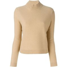 Tory Burch Roll Neck Sweater (220 CAD) ❤ liked on Polyvore featuring tops, sweaters, roll neck sweater, merino sweater, beige top, rollneck sweaters and tory burch tops
