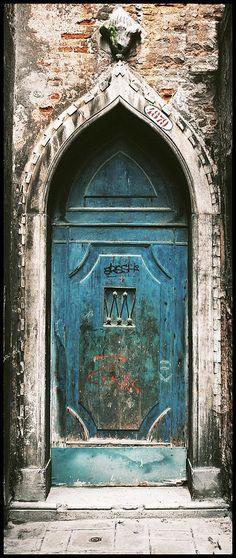Venice Church door, Italy - artist Peter Aitchison