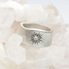 I love this ring!!!!!!  $79 Sunburst Diamond Ring {Sterling Silver}