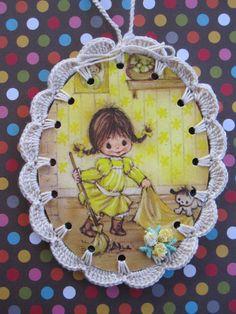 Spring Cleaning / Crochet Vintage Illustration by ShoeFlower, $4.00