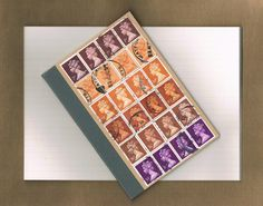Postage Stamp Pocket Notebook by @TangleCrafts Available at @ThingsBritish @shopgreenwich