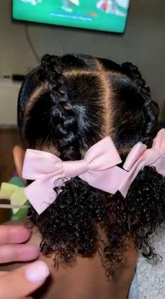 Black Toddler Girl Hairstyles, Girls Back To School Hairstyles, Mixed Baby Hairstyles, Little Girls Natural Hairstyles, Easy Toddler Hairstyles, Kids Curly Hairstyles, Afro Hair Baby, Girl Hair Dos, Baby Girl Hair