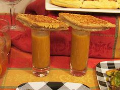 Pumpkin Soup Shooters with Mini Grilled Cheeses Pumpkin Soup, Canned Pumpkin, Pumpkin Puree, Mini Grilled Cheeses, Easy To Make Appetizers, Unsweetened Coconut Milk, Big Meals, Thanksgiving, Vegetarian