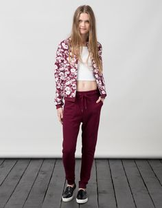 BSK basic cuffed terry trousers. Discover this and many more items in Bershka with new products every week