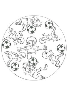 Coloring picture of several kids having fun with their soccer balls, . Coloring picture of several kids having fun with their soccer balls, each in their own wayprime rib cooked on the planchaRecipe: Cumin Lamb Stir-Fry Mandala Foot, Mandala Design, Mandala Coloring Pages, Colouring Pages, Sports Theme Classroom, School Art Projects, Cute Elephant, Origami, Yoga For Kids