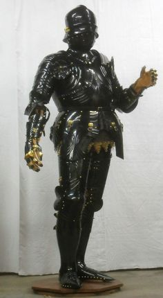 Robert MacPherson's reproduction based on the St Florian statue from the St Wolfgang Altar by Michael Pacher
