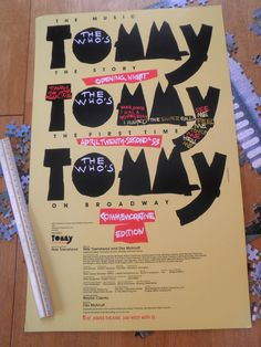 The Who Tommy Broadway window card St. James Theatre
