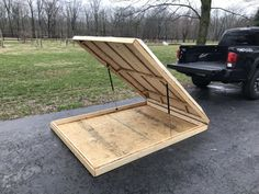 Click this image to show the full-size version. Diy Roof Top Tent, Diy Tent, Top Tents, Trailer Tent, Small Trailer, Camper Trailers, Travel Trailers, Trailer Plans, Camping Essentials