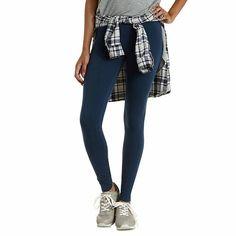 60fe406a72c82 F Seamless Leggings, Printed Leggings, Cute Leggings, Cotton Leggings, Blue  Denim,