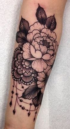 Rose Arm Sleeve Tattoo - MyBodiArt.com