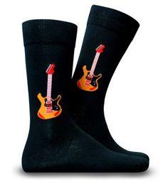 Gitar Desenli Özel Soket Çorap