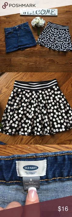 Pair of Girls Skirts EUC - like new! Size 8 Size abs label pictured. Like new condition. Size 8. Bundle to save! Bottoms Skirts