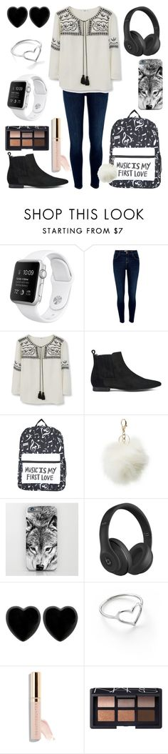 """Untitled #197"" by diamonds610 ❤ liked on Polyvore featuring River Island, MANGO, H by Hudson, Charlotte Russe, Beats by Dr. Dre, Dollydagger, Jordan Askill and NARS Cosmetics"