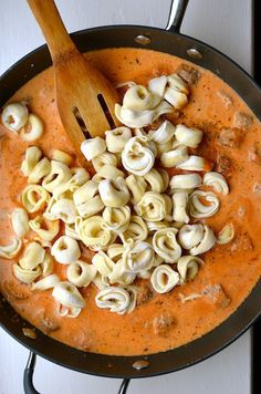 "tomato cream sauce - another pinner says: My husband calls this THE sauce. Anytime pasta is being made, he eagerly asks, ""will it have the sauce?"" It gets put in so many dishes. It's the best tomato cream sauce ever! Think Food, I Love Food, Good Food, Yummy Food, Tasty, Pasta Recipes, Cooking Recipes, Healthy Recipes, Dinner Recipes"