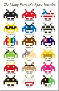 Space Invader's faces
