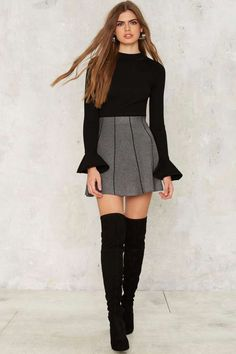 Put It in Your Pipeline Mini Skirt - Clothes