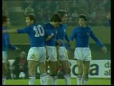 Italy 1 Austria 0 in 1978 in Buenos Aires. Romero Benetti forms a defensive wall in Round 2, Group A at the World Cup Finals.