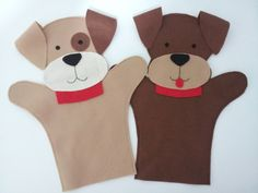 30 Ideas Sewing Toys Dog Puppys For 2019 Glove Puppets, Felt Puppets, Felt Finger Puppets, Hand Puppets, Felt Patterns, Stuffed Toys Patterns, Preschool Crafts, Crafts For Kids, Finger Puppet Patterns