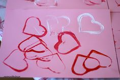 Valentine's Day Craft for babies and toddlers: Cookie Cutter Stamping