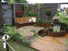 Un patio con mucho estilo. Una idea que, con un poco de trabajo y tiempo, podemos realizar nosotros mismos :)