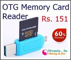 Flashmob OTG SD and Micro SD Card Reader Rs 151